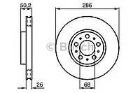 Тормозной диск Bosch 0 986 479 210 VOLVO