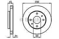 Тормозной диск Bosch 0 986 478 531 KIA, MITSUBISHI, VOLVO