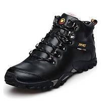 Черный Коричневый Желтый-Мужской-Для прогулок-Кожа-На плоской подошве-Удобная обувь-Кеды 05223228