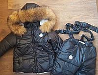 Черный зимний комплект Moncler . Реальное фото