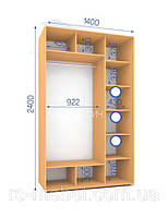 Шкафы купе (2400/1400/600), 2 двери