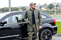 Мужская куртка пуховик демисезон бомбер длинный