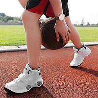 Для мужчин Спортивная обувь Удобная обувь Кожа Осень Зима Атлетический Для баскетбола Удобная обувь Шнуровка На танкеткеБелый Черный 05456555