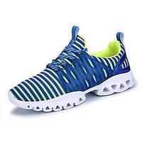 Серый Синий-Для мужчин-Для прогулок Повседневный Для занятий спортом-Тюль-На плоской подошве-Удобная обувь-Кеды 05725473