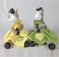 Мягкая игрушка Лошадка с одеялом Девилон D1228319  салатовая