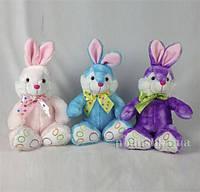 Мягкая игрушка Кролик Девилон M1222923  голубой