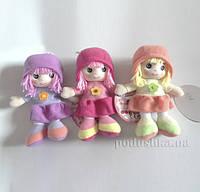 Мягкая игрушка мягконабивная кукла с вышитым лицом Девилон 31908  сиреневая