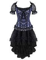 Для женщин Классический корсет Ночное белье Ретро Жаккард-Средний Спандекс Несколько цветов Женский 05150191