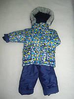 Детский зимний термокомбинезон Зимушка р.80-104 мальчикам синий Летучие Мышки очень теплый, арт. 33