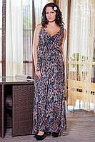 Платье в пол с леопардовым принтом, фото 1