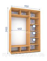 Шкафы купе (2400/1700/600), 2 двери