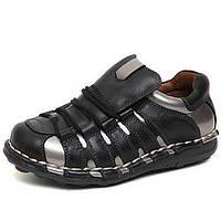 Черный-Мужской-Для прогулок / На каждый день / Для занятий спортом-Наппа Leather-На плоской подошве-Удобная обувь-Туфли на шнуровке 05251342