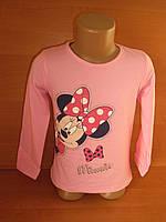 """Реглан для девочки """"Minnie"""" нежно-розового цвета"""