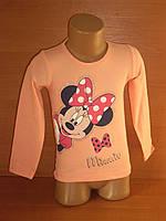 """Реглан для девочки """"Minnie"""" персикового цвета"""