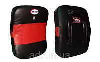 Макивара Изогнутая (1шт) Кожа TWINS KPL-4-BK-RD (поддержка для рук, р-р 43*63*10см, черный-красный)