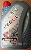 Масло трансмиссионное 75w90 полусинтетическое. VENOL Gear semisynthetic GL-4 75W90