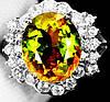 """Яркий перстень с султанитом  и белыми   сапфирами """"Северный"""", размер 16,8 от студии LadyStyle.Biz"""
