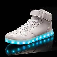 Для мужчин Спортивная обувь Удобная обувь Обувь с подсветкой Полиуретан Осень Зима Повседневные Удобная обувь Обувь с подсветкойШнуровка 05482687