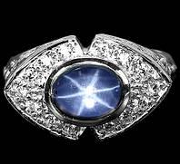 """Необычный  перстень """"Венеция"""" с   звездчатым сапфиром , размер 18,6  студия LadyStyle.Biz, фото 1"""