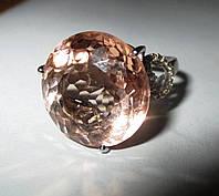 """Шикарное кольцо с морганитом и цитринами """"Улыбка"""", размер 17,3 от студии LadyStyle.Biz"""