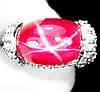 """Яркий перстень """"Глаз пантеры """" с рубинами , размер 16,4 от студии LadyStyle.Biz"""