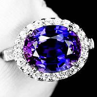 """Потрясающий  перстень """"Ультрафиолет"""" с  пурпурным и белыми сапфирами, размер 17,3 студия LadyStyle.Biz, фото 1"""