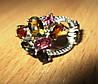 """Разноцветный перстень с цветными турмалинами """"Петля времени"""", размер 17.3  от студии LadyStyle.Biz"""