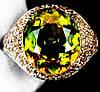 """Шикарный перстень с султанитом  и желтыми сапфирами """"Соблазн"""", размер 18 от студии LadyStyle.Biz"""