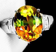 """Изящный перстень с султанитом и сапфирами  """"Елена"""", размер 19,3 от студии LadyStyle.Biz, фото 1"""