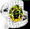 """Потрясающий перстень с султанитом  и белыми и розовыми  сапфирами """"Мечта"""", размер 18,5 от студии LadyStyle.Biz"""