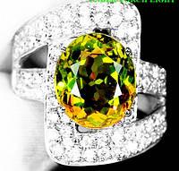 """Потрясающий перстень с султанитом  и белыми и розовыми  сапфирами """"Мечта"""", размер 18,5 от студии LadyStyle.Biz, фото 1"""