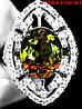"""Потрясающий перстень с султанитом  и белыми   сапфирами """"Око"""", размер 17,6 от студии LadyStyle.Biz"""