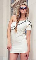Платье молочное с погоном Оra 100111 44(M) Шампань Ora 100111