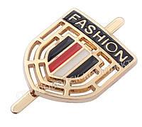 "Украшение герб ""Fashion"", цв. золото, 49517д, фото 1"