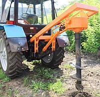 Гидробур (ямобур, ямокопатель)  навесной БАМ 1,3 на базе трактора МТЗ 80,82