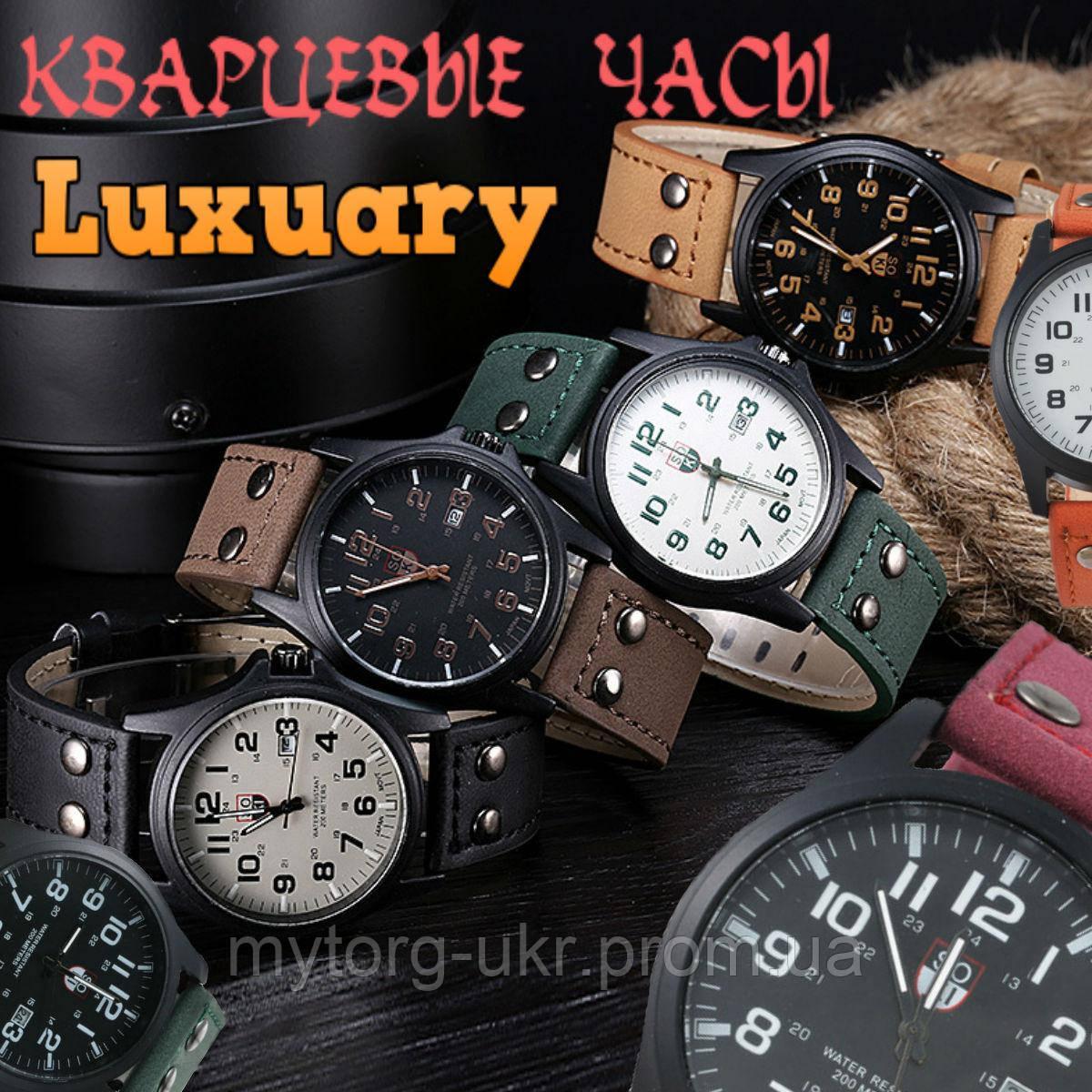 Чоловічі армійські годинник Хinew Luxuary Шкіряний ремінь Червоний ... 075789ee58f5b