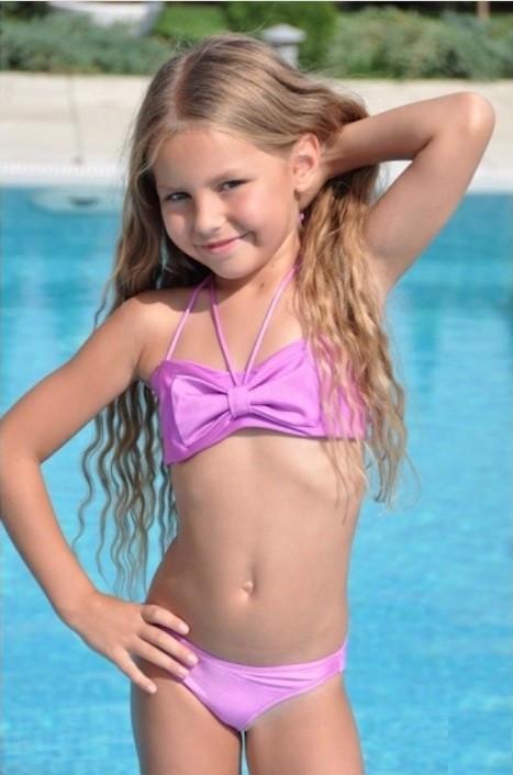 6884bf14ce94b Розовый купальник для девочки BAEL Бантик 5501 146 Сиреневый BAEL 5501 -  Интернет магазин купальников и