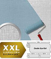 EDEM 350-60 25-ти метровые флизелиновые обои под покраску с эффектом рельефной штукатурки | белые 26,5 кв м
