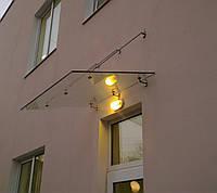 Стеклянный навес (козырёк), фото 1