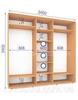 Шкафы купе (2400/2400/600), 3 двери