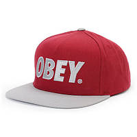 Кепка Obey Snapback Red-Grey