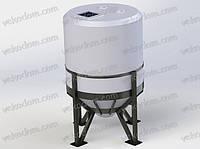 Емкость 5,5 м.куб. вертикальная цилиндрическая с конусным дном для воды 5502 л