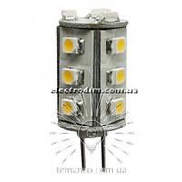 Лампа Lemanso светодиодная G4 15LED 1W 45LM 4500К 12V 3528SMD/ LM201 описание, отзывы, характеристики