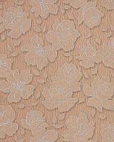 EDEM 173-36 дизайнерские обои с цветочным рисунком | какао-коричневые с серебристыми деталями орнамента