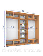 Шкафы купе (2400/2700/600), 3 двери