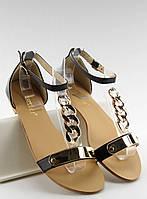 10-15 Черные женские сандалии 20-229 40
