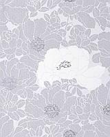 EDEM 025-26 дизайнерские цветочные обои с гармоничным сочетанием цветов | белые светло-серые серебристо-серые