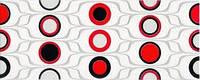 Декор Domenico Red Circles Inserto 20x50 Red