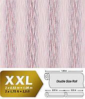 EDEM 675-93 дизайнерские флизелиновые XXL обои в полоску | розовые малиновые красные с белыми полосами | 10,65 кв м