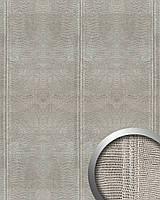 WallFace 15006 LEGUAN дизайнерская самоклеящаяся настенная панель из синтетической кожи серебряная | 2,60 кв.м